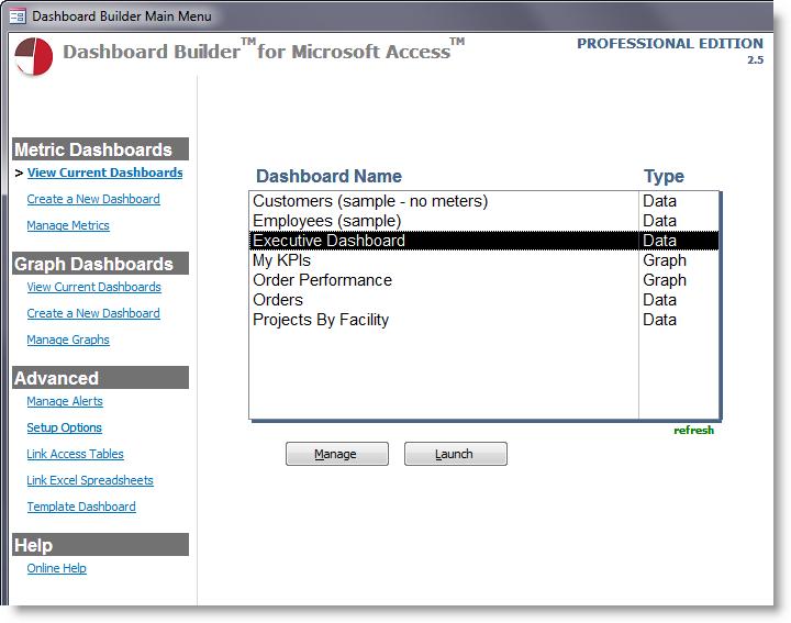 Dashboard Builder for Microsoft Access - Create amazing dashboards