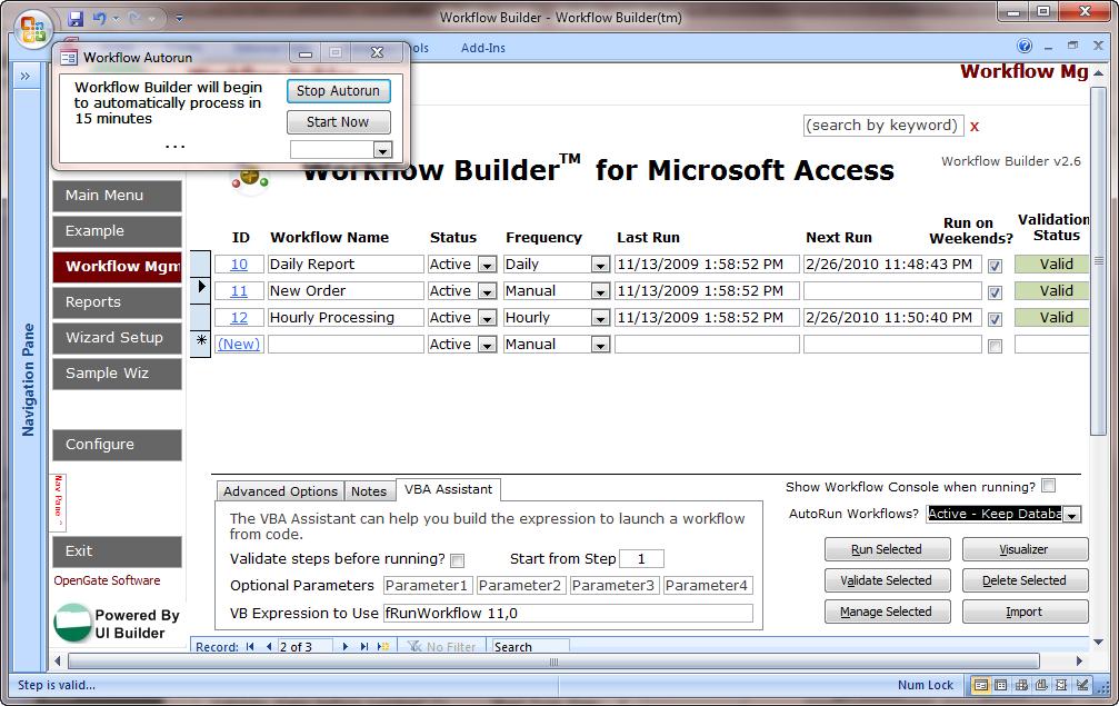 Workflow Builder for Microsoft Access - Avoid VBA