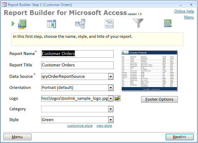 how to create a database in access