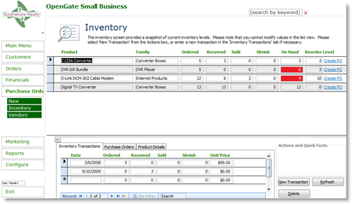 Business Management: Inventory Management Software Small