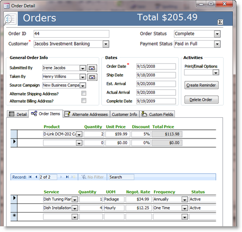 Small Business - Order Management and Inventory ...