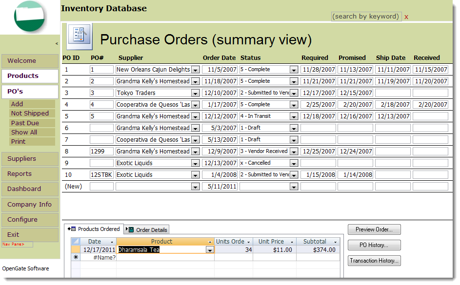 Free ...  Microsoft Purchase Order Template