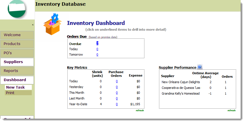 Microsoft Access Inventory Management Template | OpenGate Software Inc