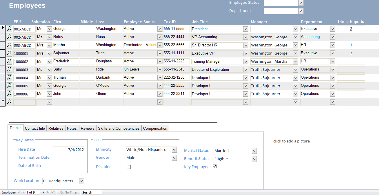 ms access sample database templates