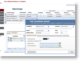 microsoft access recruiting template