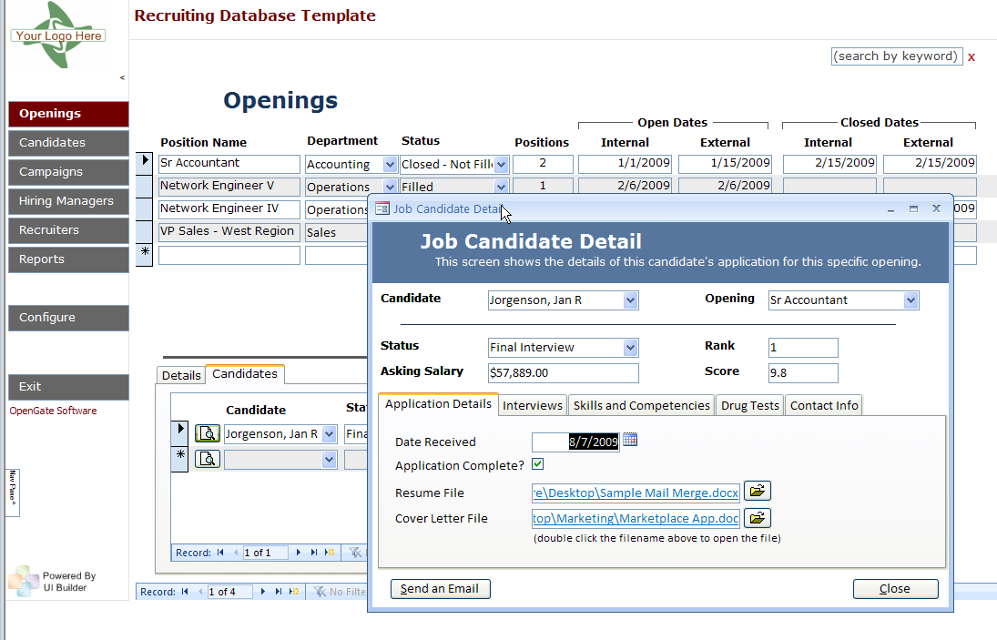 Crm Database Template. microsoft access templates crm template ...