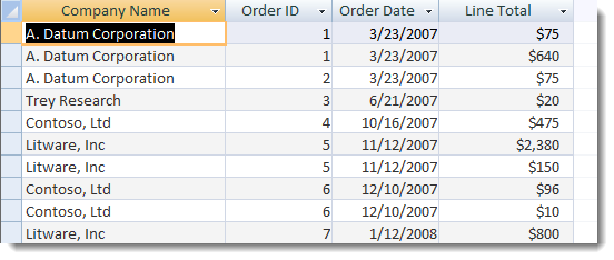 Access Query View Calculation