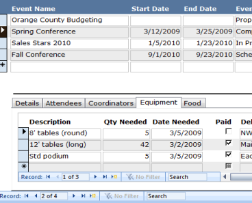 ms access budget template