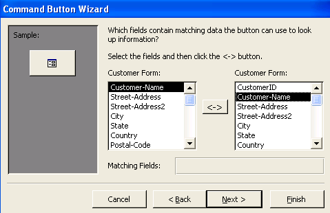 Access command button wizard