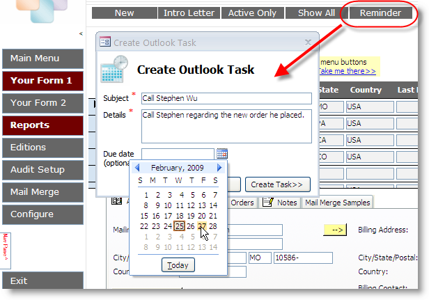 outlook form templates